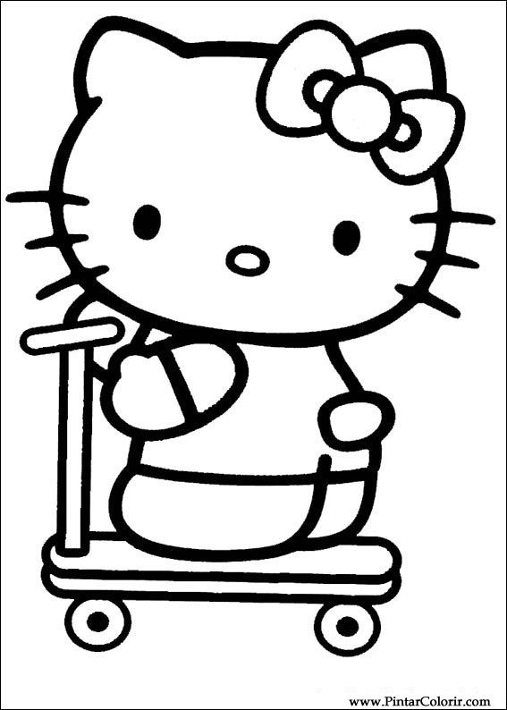 drawings to paint colour hello kitty print design 012