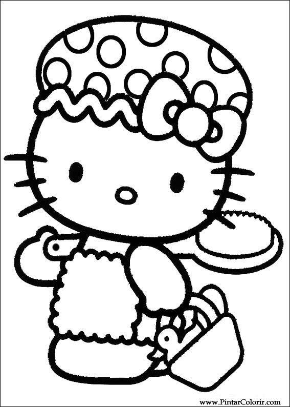 Desenhos Para Pintar E Colorir Hello Kitty Imprimir Desenho 013