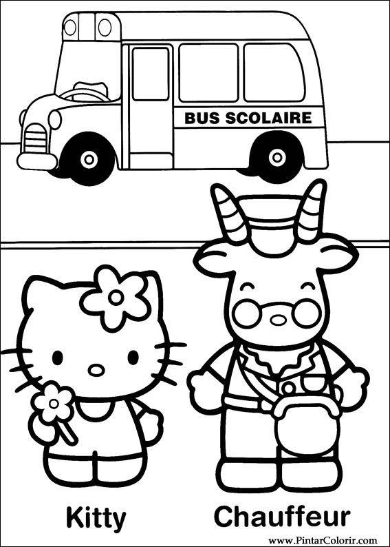 Dessins De Peindre Et Couleur Bonjour Kitty Imprimer Conception 032