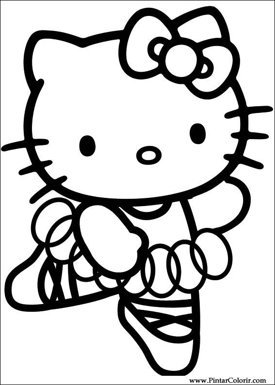 drawings to paint colour hello kitty print design 040