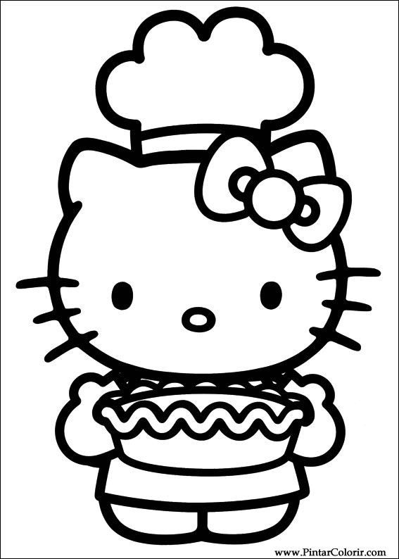 Drawings To Paint Colour Hello Kitty Print Design 041
