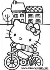 Pintar e Colorir Hello Kitty - Desenho 001