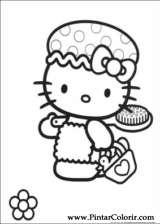 Pintar e Colorir Hello Kitty - Desenho 002