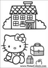 Pintar e Colorir Hello Kitty - Desenho 003