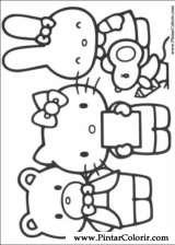 Pintar e Colorir Hello Kitty - Desenho 004