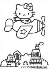 Pintar e Colorir Hello Kitty - Desenho 005