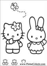 Pintar e Colorir Hello Kitty - Desenho 006