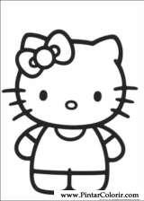Pintar e Colorir Hello Kitty - Desenho 007