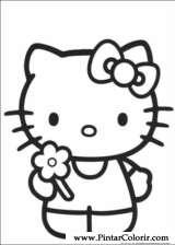 Pintar e Colorir Hello Kitty - Desenho 008