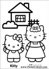 Desenhos Para Pintar E Colorir De Hello Kitty Pagina 3
