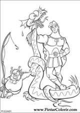 Pintar e Colorir Hercules - Desenho 005