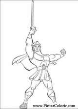 Pintar e Colorir Hercules - Desenho 006