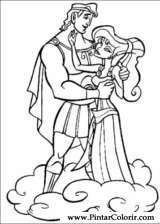 Pintar e Colorir Hercules - Desenho 008