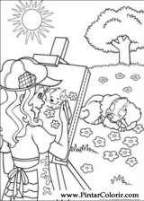 Pintar e Colorir Holly Hobbie - Desenho 014
