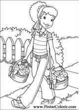 Pintar e Colorir Holly Hobbie - Desenho 044