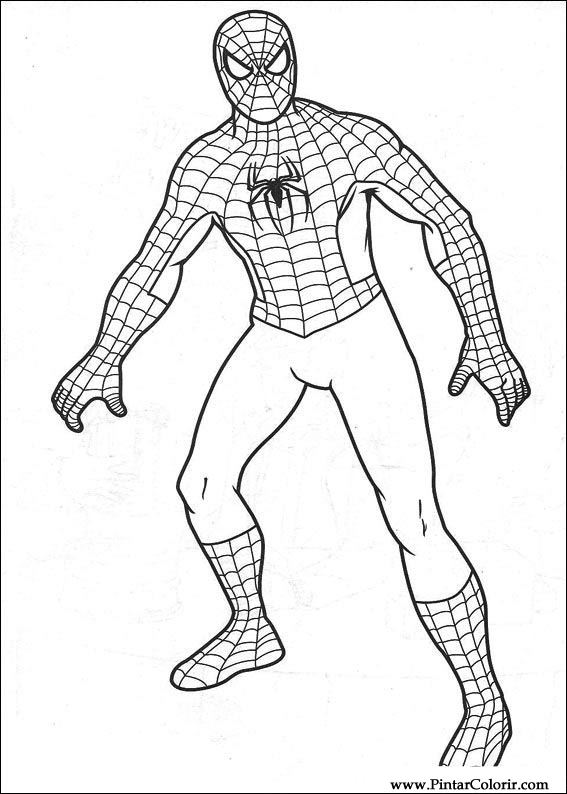 Desenhos Para Pintar E Colorir Homem Aranha Imprimir