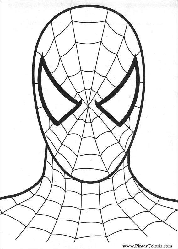 Dibujos Para Pintar Y Color Spiderman Diseño De Impresión 008