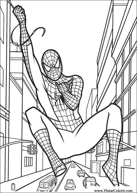 Desenhos Para Pintar E Colorir Homem Aranha Imprimir Desenho 013