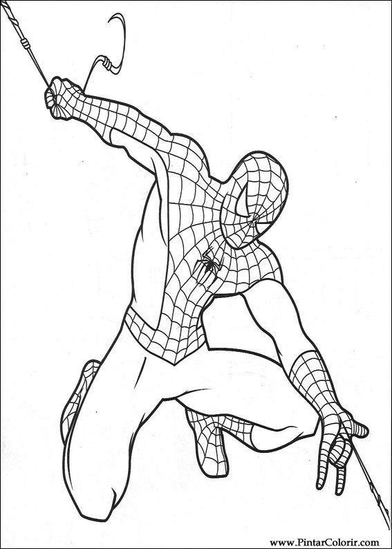 çizimler Boya Ve Renk örümcek Adam Için Baskı Tasarım 018