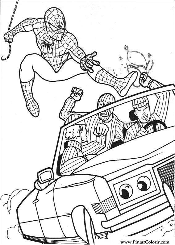 çizimler Boya Ve Renk örümcek Adam Için Baskı Tasarım 019