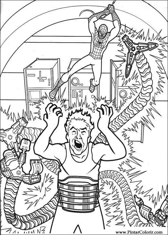 çizimler Boya Ve Renk örümcek Adam Için Baskı Tasarım 023