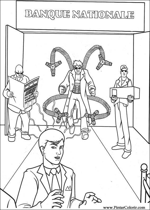 çizimler Boya Ve Renk örümcek Adam Için Baskı Tasarım 026
