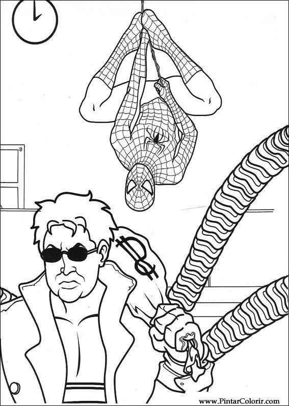 çizimler Boya Ve Renk örümcek Adam Için Baskı Tasarım 027