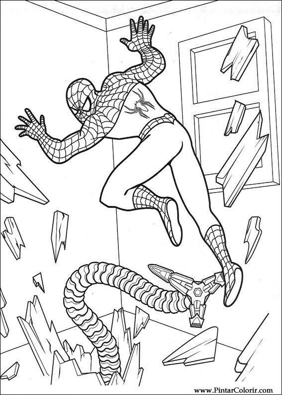 çizimler Boya Ve Renk örümcek Adam Için Baskı Tasarım 029