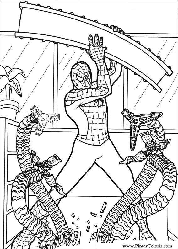 çizimler Boya Ve Renk örümcek Adam Için Baskı Tasarım 030