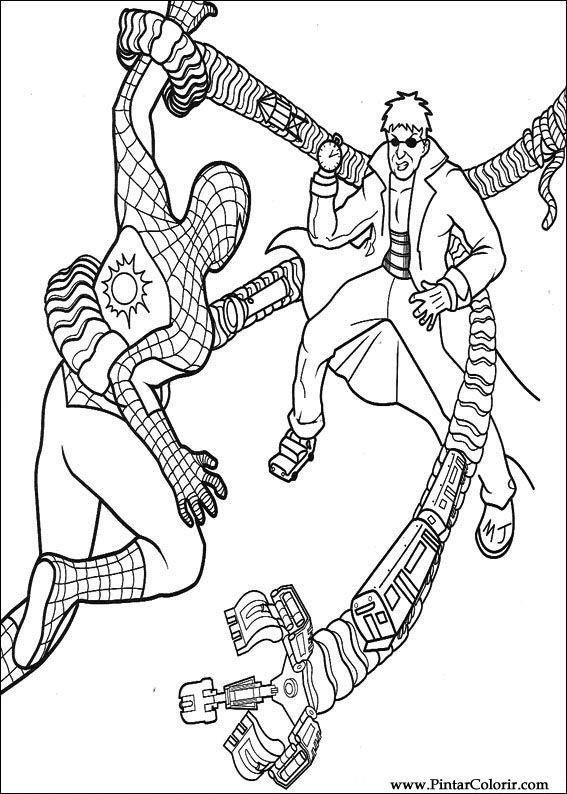 çizimler Boya Ve Renk örümcek Adam Için Baskı Tasarım 033