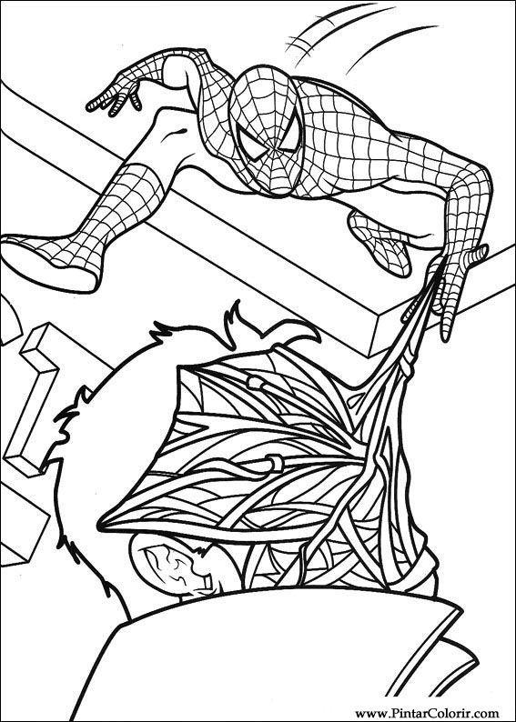 Desenhos Para Pintar E Colorir Homem Aranha Imprimir Desenho 037