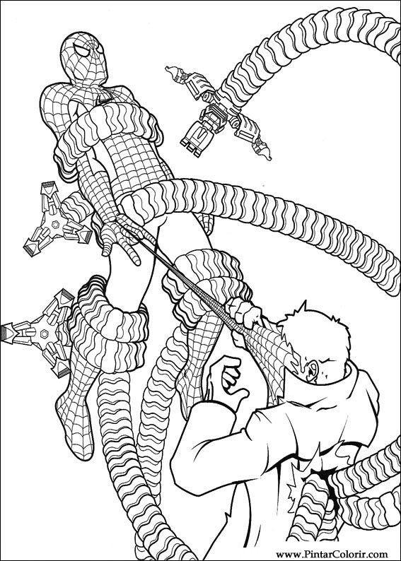çizimler Boya Ve Renk örümcek Adam Için Baskı Tasarım 040