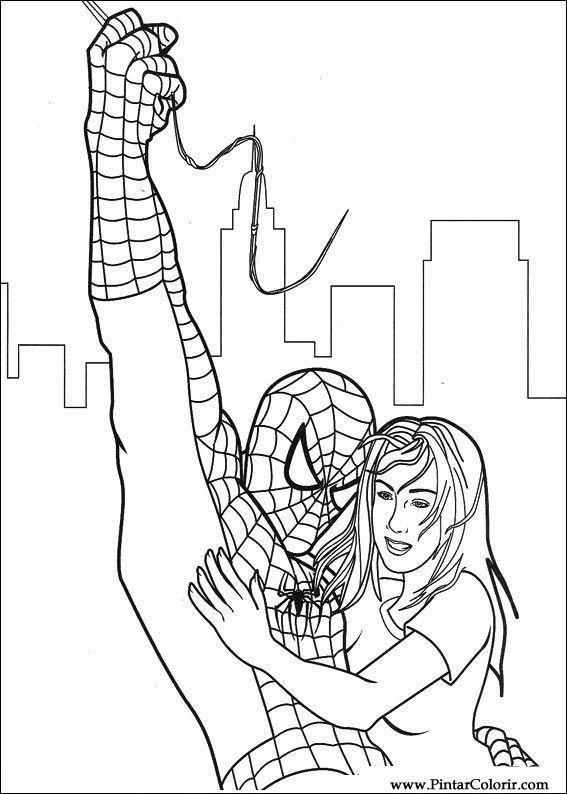 çizimler Boya Ve Renk örümcek Adam Için Baskı Tasarım 052