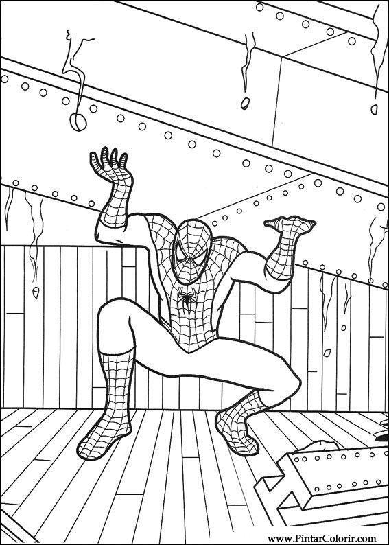 Desenhos Para Pintar E Colorir Homem Aranha Imprimir Desenho 055