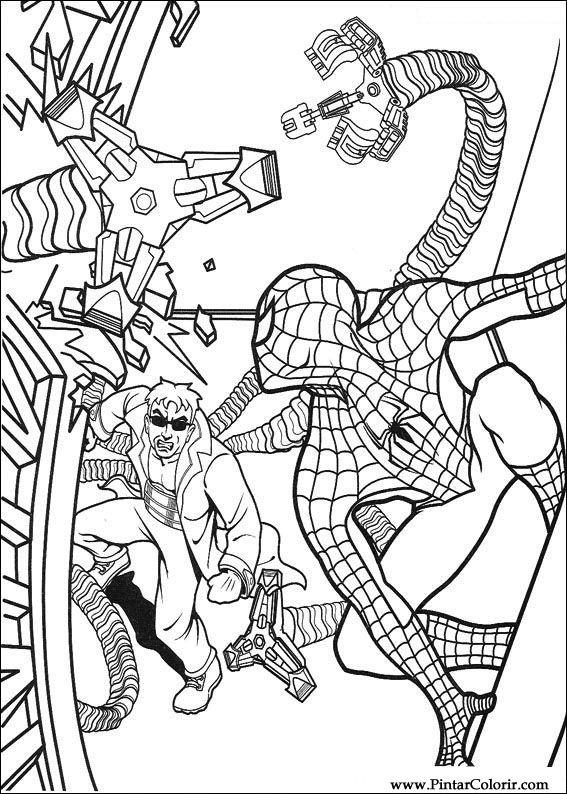 Desenhos Para Pintar E Colorir Homem Aranha Imprimir Desenho 056