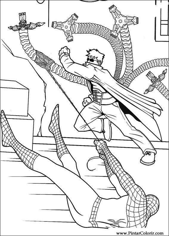 Desenhos Para Pintar E Colorir Homem Aranha Imprimir Desenho 058