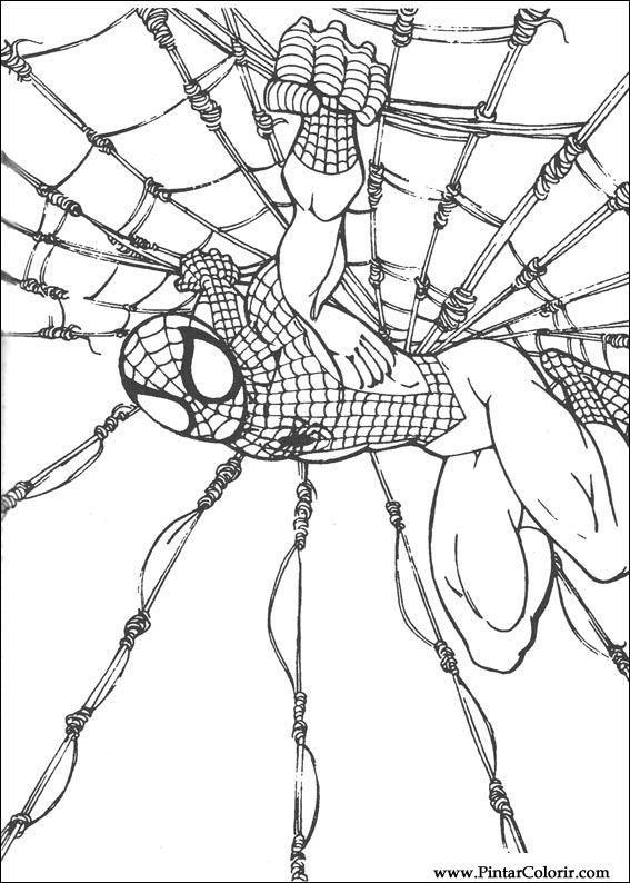 Desenhos Para Pintar E Colorir Homem Aranha Imprimir Desenho 060