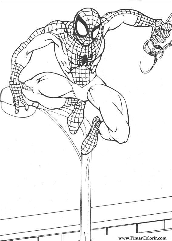 çizimler Boya Ve Renk örümcek Adam Için Baskı Tasarım 062