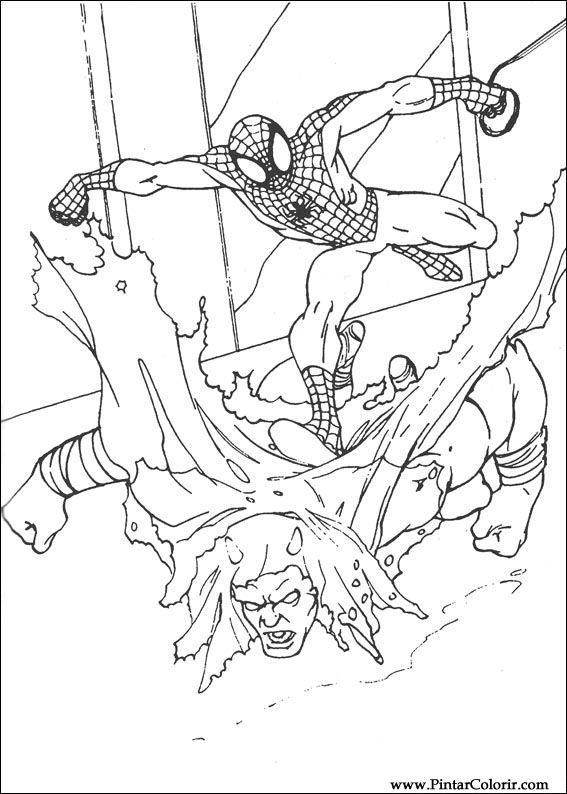 Pintar e Colorir Homem Aranha - Desenho 065