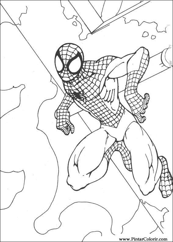 Desenhos Para Pintar E Colorir Homem Aranha Imprimir Desenho 066