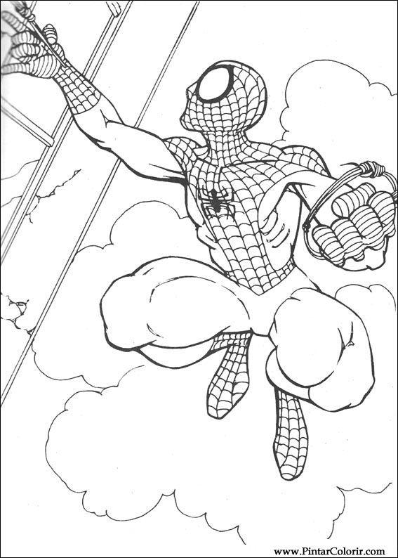 çizimler Boya Ve Renk örümcek Adam Için Baskı Tasarım 067