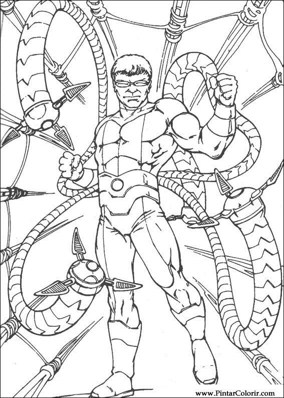 Desenhos Para Pintar E Colorir Homem Aranha Imprimir Desenho 072