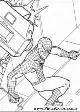 Pintar e Colorir Homem Aranha - Desenho 003