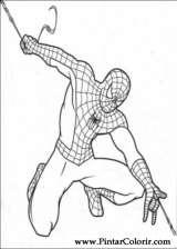 Pintar e Colorir Homem Aranha - Desenho 018