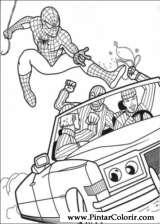 Pintar e Colorir Homem Aranha - Desenho 019