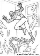 Pintar e Colorir Homem Aranha - Desenho 029