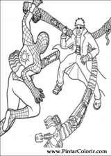 Pintar e Colorir Homem Aranha - Desenho 033