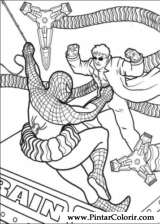 Pintar e Colorir Homem Aranha - Desenho 045