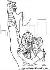 Pintar e Colorir Homem Aranha - Desenho 052