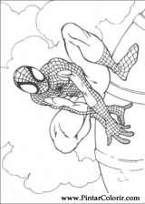 Pintar e Colorir Homem Aranha - Desenho 068